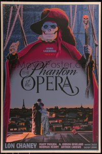 7x0001 PHANTOM OF THE OPERA #4/10 24x36 art print 2013 Durieux art, variant wood edition!