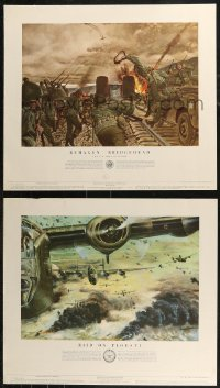 7x0035 US ARMY IN ACTION 14 21x24 special posters 1953-1956 great art of different battle scenes!