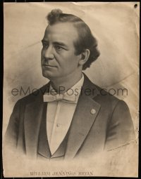 7x0029 WILLIAM JENNINGS BRYAN 19x25 art print 1890s art of the politician with bow tie!