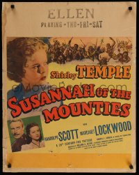 7x0017 SUSANNAH OF THE MOUNTIES jumbo WC 1939 Randolph Scott, Lockwood, Shirley Temple!