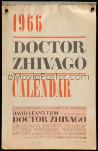 7y0106 DOCTOR ZHIVAGO 12x18 12x18 calendar 1966 great color scenes from David Lean's classic epic, rare!