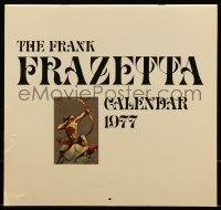 7y0107 FRANK FRAZETTA calendar 1977 filled with wonderful fantasy art prints!