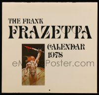 7y0108 FRANK FRAZETTA calendar 1978 filled with wonderful fantasy art prints!