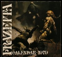7y0109 FRANK FRAZETTA calendar 1979 filled with wonderful fantasy art prints!