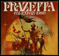 7y0110 FRANK FRAZETTA calendar 1980 filled with wonderful fantasy art prints!