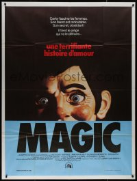 7y1083 MAGIC French 1p 1979 Richard Attenborough, ventriloquist Anthony Hopkins, creepy dummy image