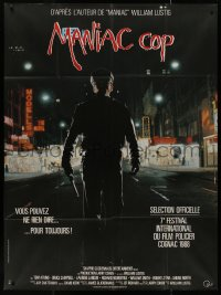 7y1089 MANIAC COP French 1p 1988 completely different image of crazed New York City cop!