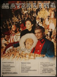 7y1094 MAYERLING French 1p 1969 different image of Omar Sharif, Catherine Deneuve!