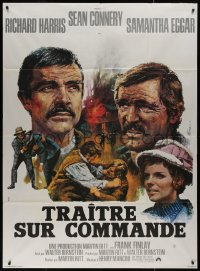 7y1103 MOLLY MAGUIRES French 1p 1970 completely different art of Connery & Harris by Jean Mascii!