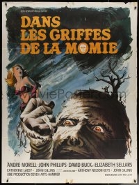7y1110 MUMMY'S SHROUD French 1p 1968 Hammer horror, best different monster art by Boris Grinsson!