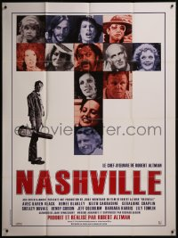 7y1119 NASHVILLE French 1p R1990s Robert Altman, great different photo montage of the entire cast!