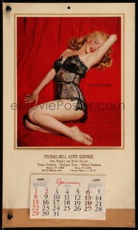 7y0115 MARILYN MONROE Lure of Lace calendar 1956 censored nudity from classic Playboy centerfold!