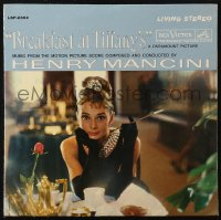 7y0095 BREAKFAST AT TIFFANY'S 33 1/3 RPM soundtrack record 1961 Audrey Hepburn, Henry Mancini music!