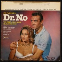 7y0098 DR. NO soundtrack record 1962 Sean Connery is the most extraordinary gentleman spy James Bond!