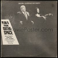 7y0102 PLAN 9 FROM OUTER SPACE 33 1/3 RPM soundtrack record 1978 original music from Ed Wood's worst!