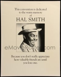 7y0094 HAL SMITH 16x20 memorial poster 1994 dedicated to the memory of Andy Griffith Show's Otis!