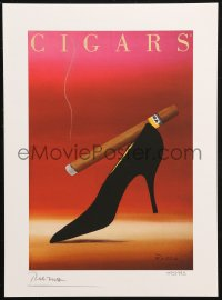 7y0083 RAZZIA signed #495/995 11x15 art print 1982 by the artist, art of cigar on woman's shoe!