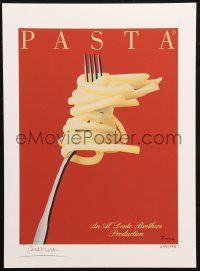 7y0086 RAZZIA signed #495/995 11x15 art print 1982 by the artist, art of pasta twirled around fork!