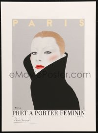 7y0084 RAZZIA signed #495/995 11x15 art print 1982 by the artist, art of fashion model, Pret a Porter