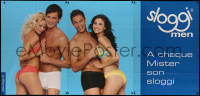 7y0091 TRIUMPH blue 50x106 Swiss advertising poster 2000s sexy underwear ad for both men & women!