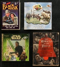 7z0673 LOT OF 4 SOFTCOVER BOOKS 1940s-1990s Return of the Jedi, Flintstones, Black Mask & more!