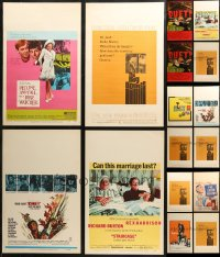 7z0032 LOT OF 16 WINDOW CARDS 1940s-1990s great images for a variety of different movies!