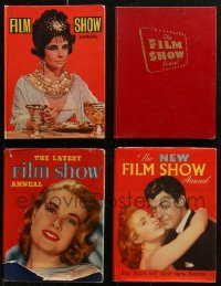 7z0658 LOT OF 4 FILM SHOW ANNUAL ENGLISH HARDCOVER BOOKS 1953-1962 great movie images & info!