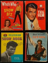 7z0659 LOT OF 4 ENGLISH MOVIE AND TV HARDCOVER BOOKS 1950s-1960s great images & information!