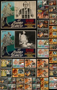 7z0038 LOT OF 51 MEXICAN LOBBY CARDS 1950s-1970s a variety of movie scenes with some nudity!