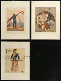 7z0019 LOT OF 3 PAPERBACKED LIFE MAGAZINE COVERS 1904-1918 cool art from over 100 years ago!