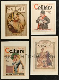 7z0014 LOT OF 7 PAPERBACKED COLLIER'S MAGAZINE COVERS 1903-1929 a variety of great artwork images!
