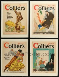 7z0012 LOT OF 8 PAPERBACKED COLLIER'S MAGAZINE COVERS 1931-1937 a variety of colorful artwork!