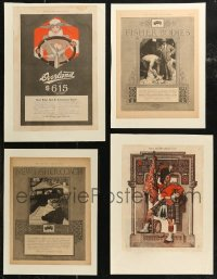 7z0016 LOT OF 5 PAPERBACKED MAGAZINE PAGES 1910s-1920s cool images from 100+ years ago!