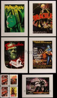 7z0022 LOT OF 9 UNFOLDED HORROR/SCI-FI 12X16 REPRODUCTION POSTERS 1990s all the best images!
