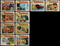 7z0666 LOT OF 10 ITALIAN TARZAN SOFTCOVER BOOKS 1973-1974 Russ Manning Sunday Pages in black & white!
