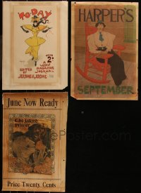 7z0021 LOT OF 3 MAGAZINE COVERS 1900s great artwork from over a century ago!
