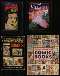 7z0660 LOT OF 4 ANIMATION AND COMICS HARDCOVER BOOKS 1981-2006 Disney Comics & more!