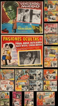 7z0039 LOT OF 23 MEXICAN LOBBY CARDS 1950s-1960s great scenes from a variety of different movies!