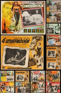 7z0040 LOT OF 21 MEXICAN LOBBY CARDS 1950s-1960s great scenes from a variety of different movies!