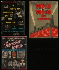 7z0663 LOT OF 3 HARDCOVER BOOKS 1949-1985 Character Actors, Who's Who, Pictorial History!