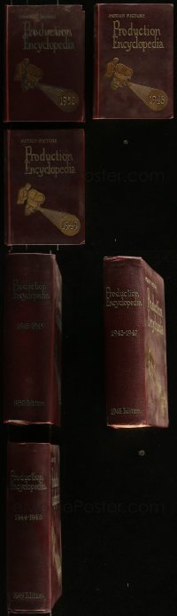 7z0662 LOT OF 3 MOTION PICTURE PRODUCTION ENCYCLOPEDIA HARDCOVER BOOKS 1948-1950 filled with info!