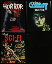 7z0676 LOT OF 3 BRUCE HERSHENSON 60 GREAT SOFTCOVER MOVIE POSTER BOOKS 2003 color poster images!