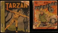 7z0677 LOT OF 2 WHITMAN SOFTCOVER BOOKS 1935 Tarzan & The Trail of the Terrible 6!