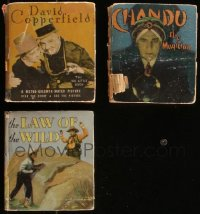 7z0648 LOT OF 3 HARDCOVER BIG LITTLE BOOKS 1934-1935 David Copperfield, Chandu, Law of the Wild