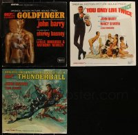 7z0026 LOT OF 3 JAMES BOND MOVIE SOUNDTRACK 33 1/3 RPM RECORDS 1960s music from 007 movies!