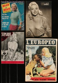 7z0010 LOT OF 4 MAGAZINES WITH DIANA DORS COVERS 1950s filled with great images & artcles!