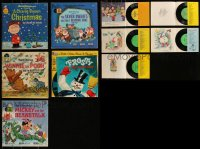 7z0670 LOT OF 5 READ-ALONG BOOK & RECORD SOFTCOVER BOOKS 1960s-1970s Charlie Brown, Disney & more!