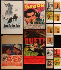 7z0033 LOT OF 15 WINDOW CARDS 1950s-1970s great images from a variety of different movies!