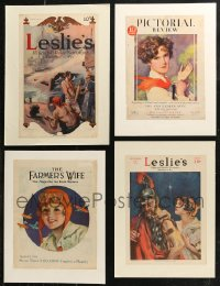 7z0017 LOT OF 4 PAPERBACKED MAGAZINE COVERS 1914-1930 a variety of cool artwork images!