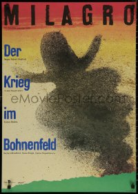 8a0288 MILAGRO BEANFIELD WAR East German 23x32 1989 directed by Robert Redford, Ernst art!